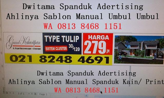 Spesialis cetak/sablon spanduk kain promosi,SPANDUK KAIN Dwitama Advertising Benda Baru, Pamulang,