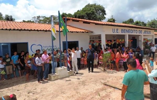 cidade de Rosário, inauguração de escola na zona rural