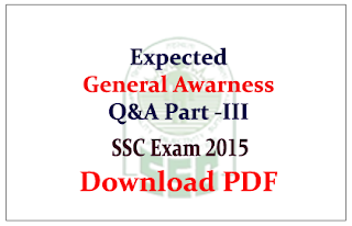 List of Expected General Awareness Questions and Answers Capsule Download