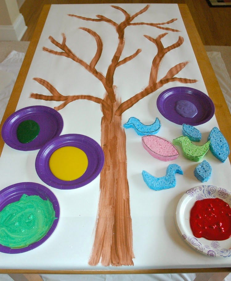 Giant Sponge Stamping Art What Can We Do With Paper And Glue