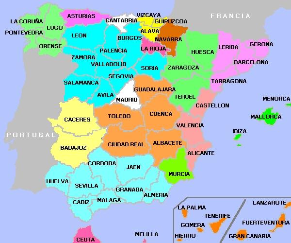 mapas provincias de españa
