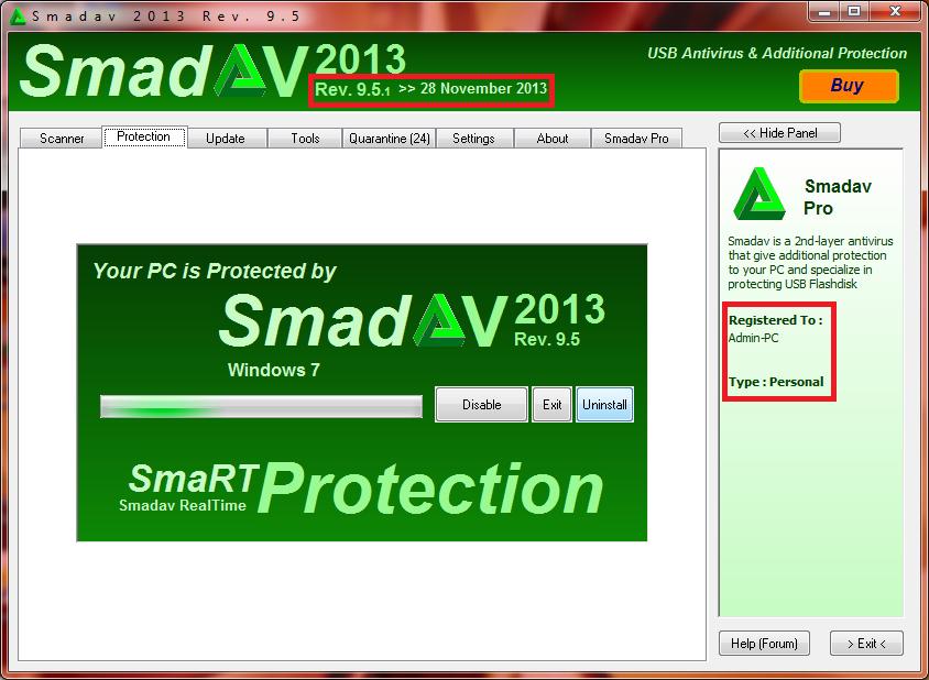 Rev. SmadAV 2013. Pro 9.5