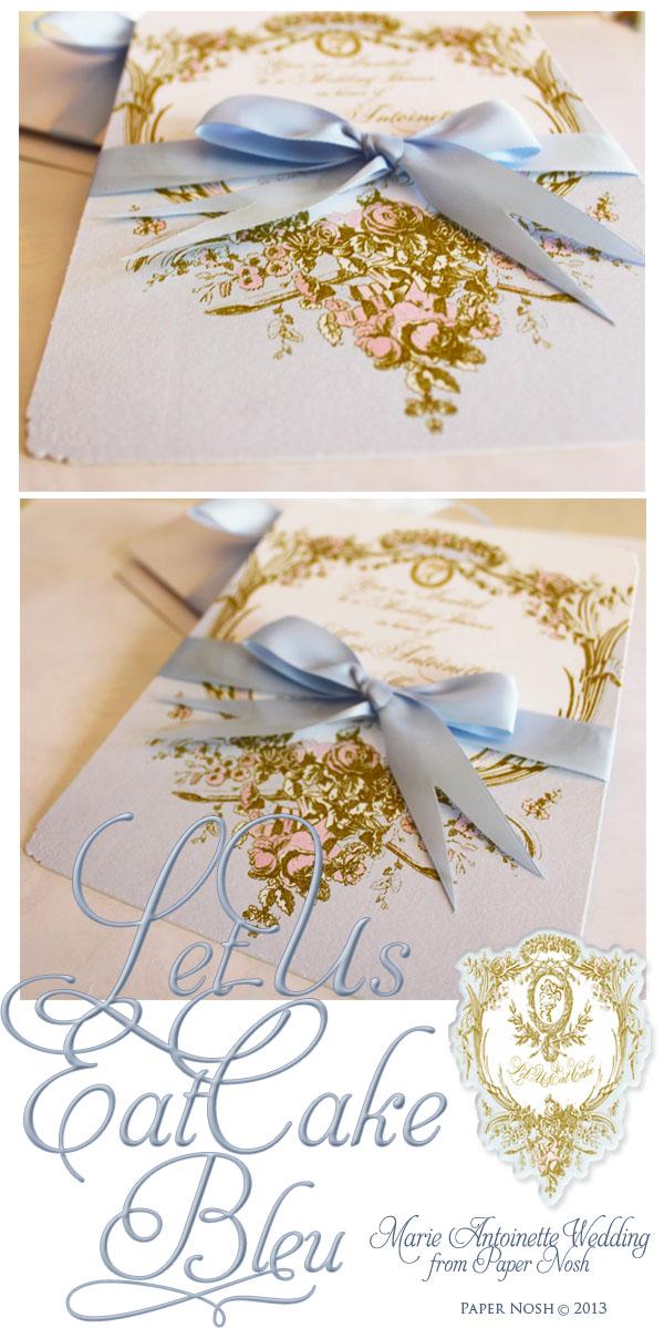 la pink paperie The blog for Paper Nosh: Marie Antoinette Let Us Eat ...
