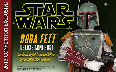 San Diego Comic-Con 2013 Exclusive Boba Fett Deluxe Mini Bust by Gentle Giant