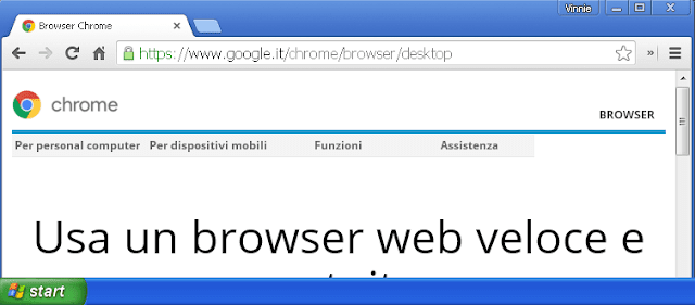 Chrome su Windows XP