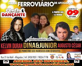 CLUBE FERROVIÁRIO DE AFOGADOS - ANIVERSÁRIO DE DINA & JUNIOR.
