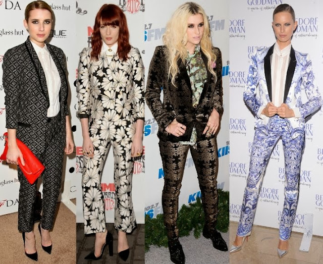 Celebrity in Printed Pants