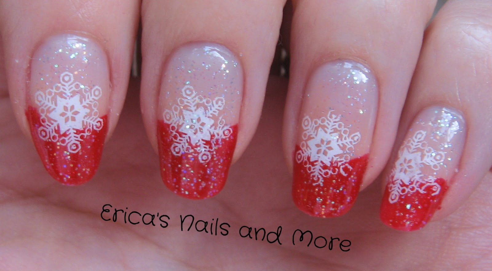 Erica\'s Nails and More: Snowflake French Tip
