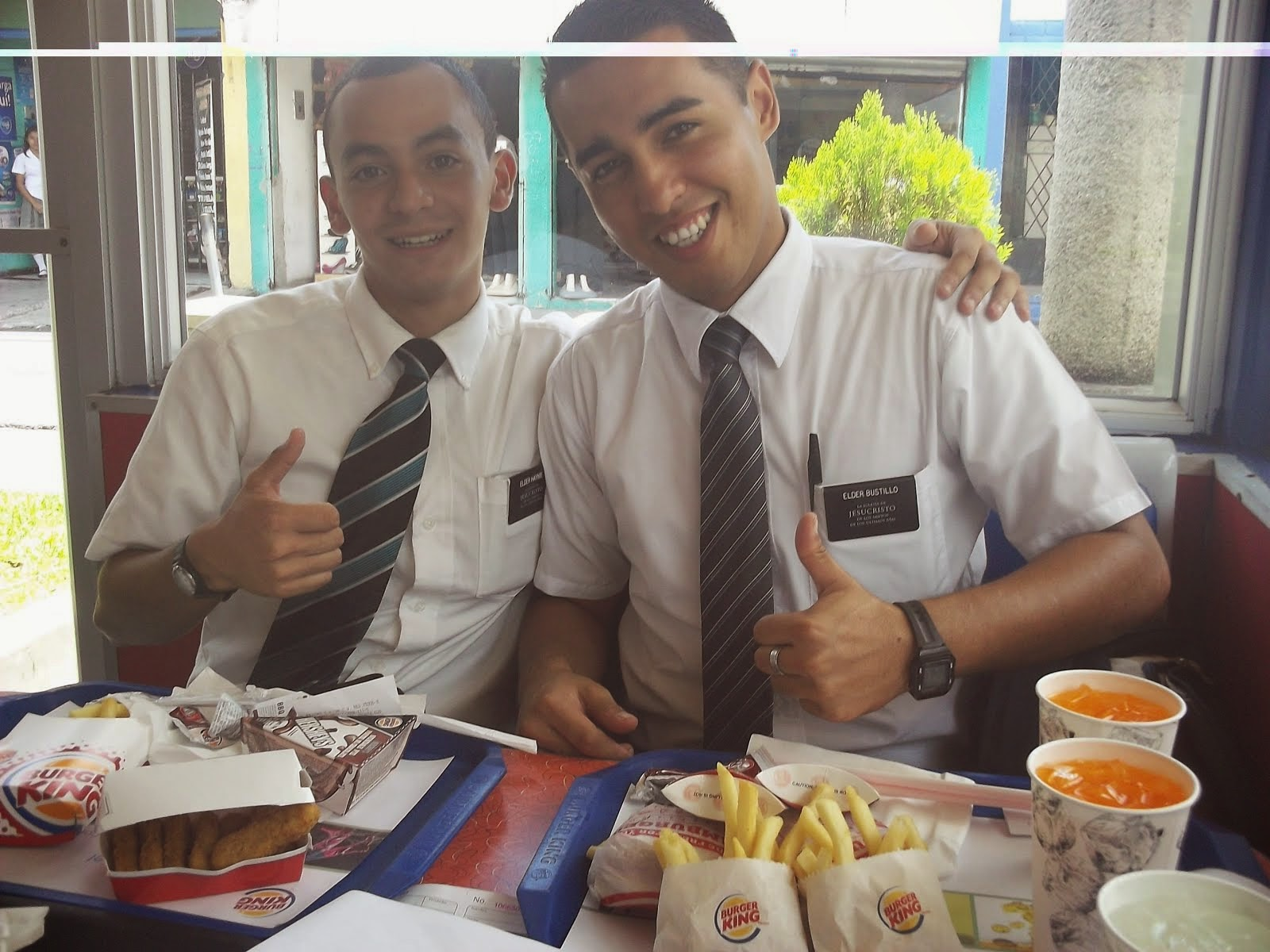 Elder Haynie and Elder Bustillo