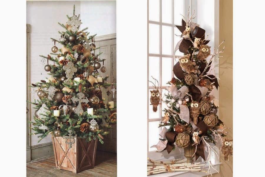 Dos ideas eventos decoraci n navide a - Arboles secos decorados ...