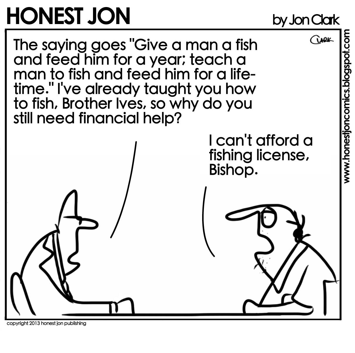 Honest jon teach a man to fish for Teach a man to fish