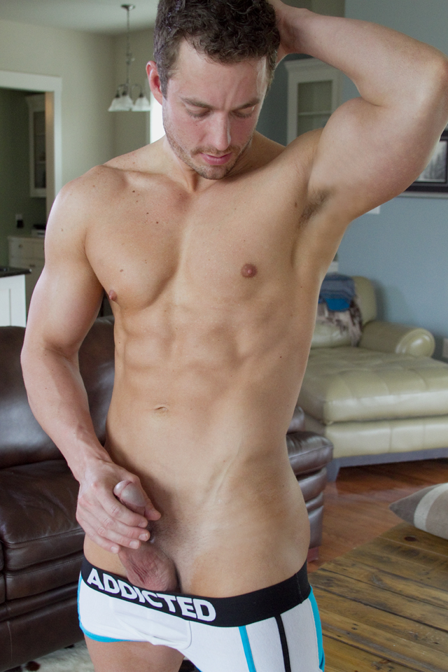 muscled gay jerks penis