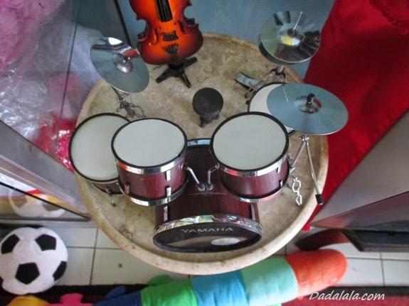 Jual Miniatur Drum Yamaha Cokelat Polos