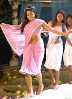 Poorna Shamna in Beautiful Danceing Stills in light Pink and Wet Saree Spicy Pics