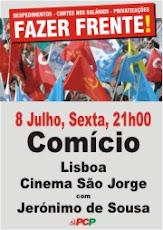 Comício 8 Julho Cinema São Jorge
