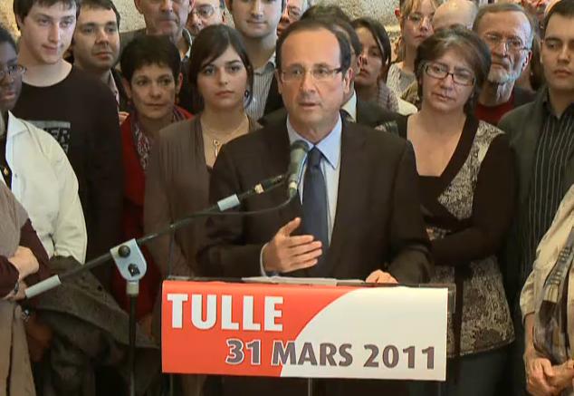Hollande candidat primaires socialistes