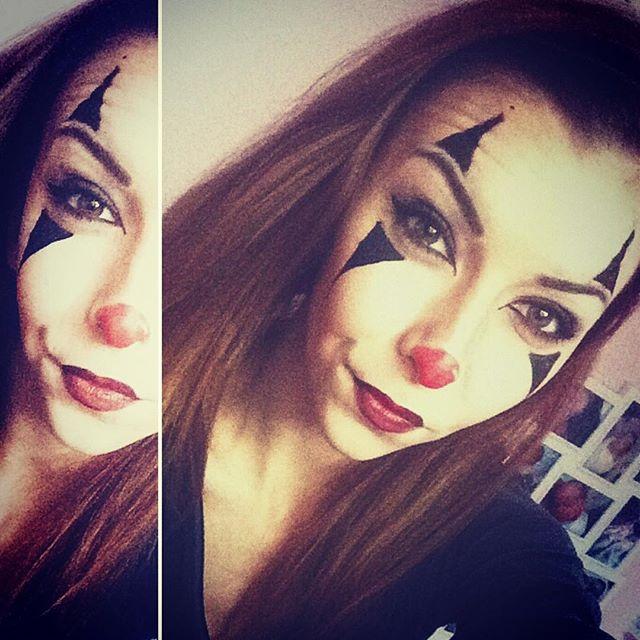 halloween clown make up