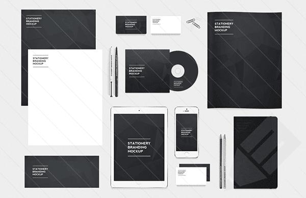 Free Stationery Branding Mockup PSD, free branding template,