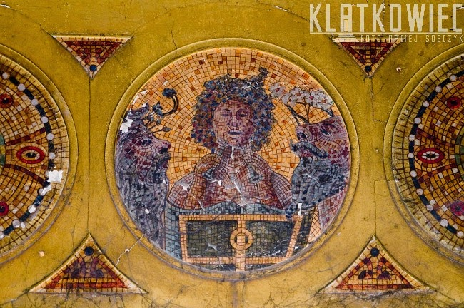 Łódź: mozaika na suficie