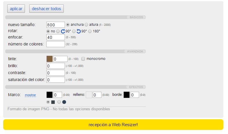 seo imagen web resizer