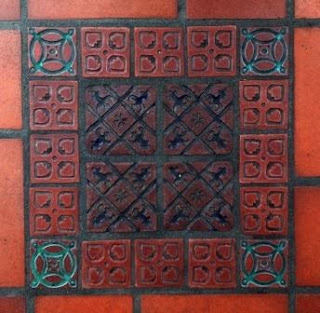 Handmade tile can be found throughout the Paseo Nuevo Shopping Center.