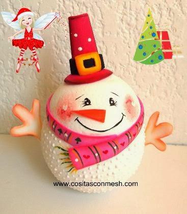 C mo hacer adorno navide o casero cositasconmesh for Adornos navidenos caseros faciles