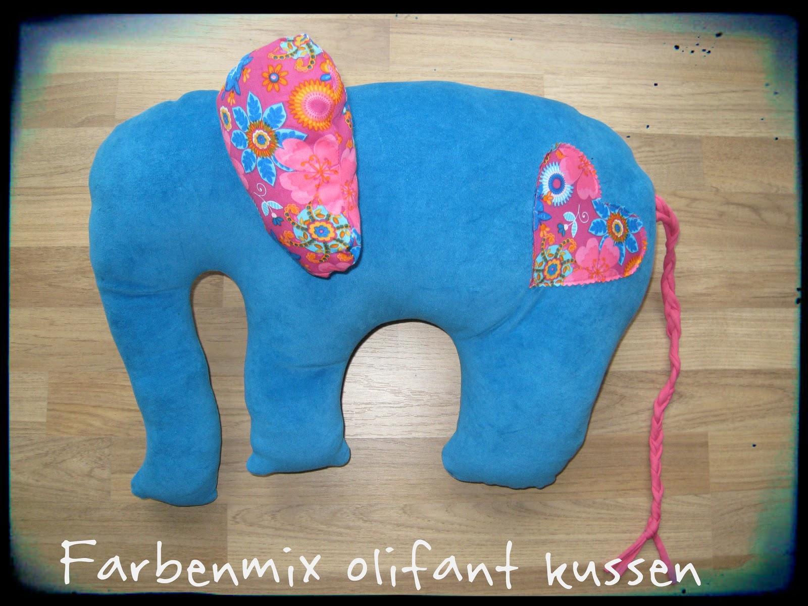 Farbenmix olifant gemaakt mbv freebook