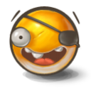 Eye patch emoticon