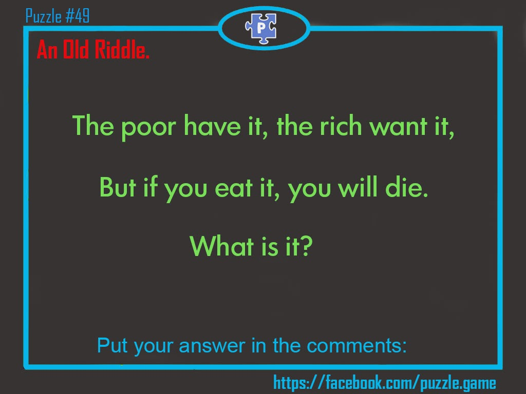 The Poor Have It Rich Want But If You Eat