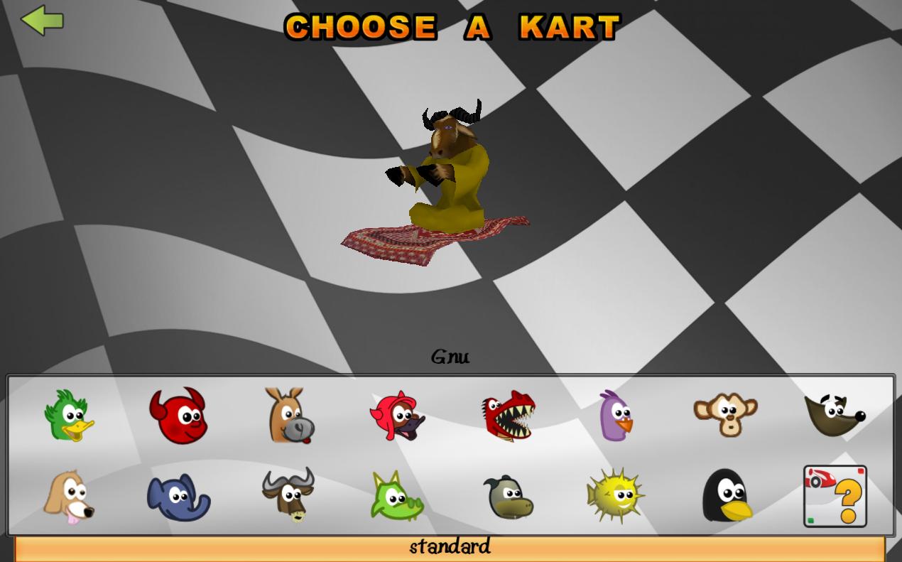 Semua karakter di Supertux Kart