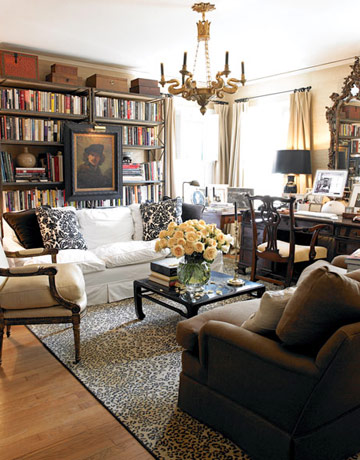 Do You Like Prints And Paintings Hung In Front Of Bookcases? House Beautiful