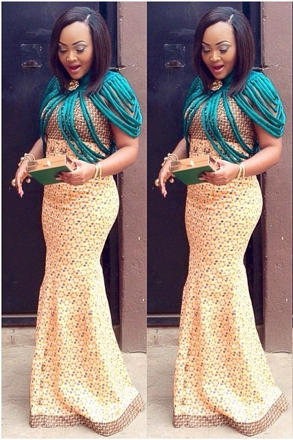 Nigerian Dresses Actress Mercy Aigbe Looking Good With Ankara Gown Dezango Fashion Zone
