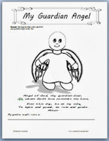 Guardian angels printable page for kids catholic inspired for Guardian angel prayer coloring page