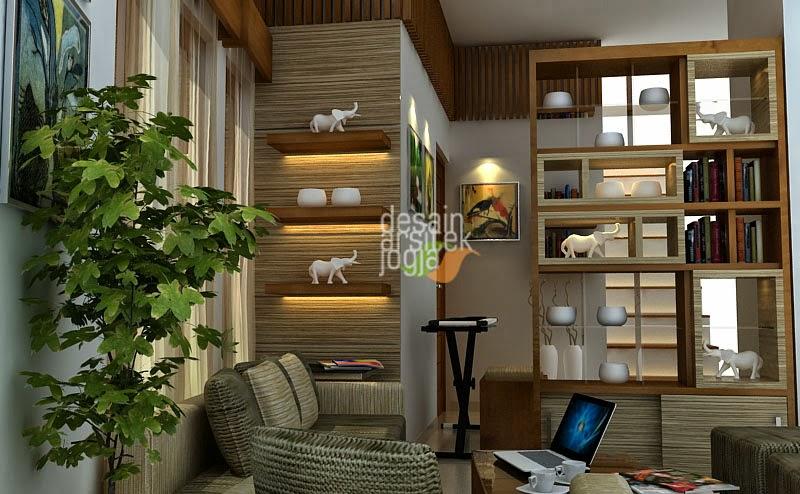 Desain Ruang Tamu Minimalis Etnik karya Desain Arsitek Jogja & Desain Arsitek Jogja | Studio Desain Arsitek Interior dan ...