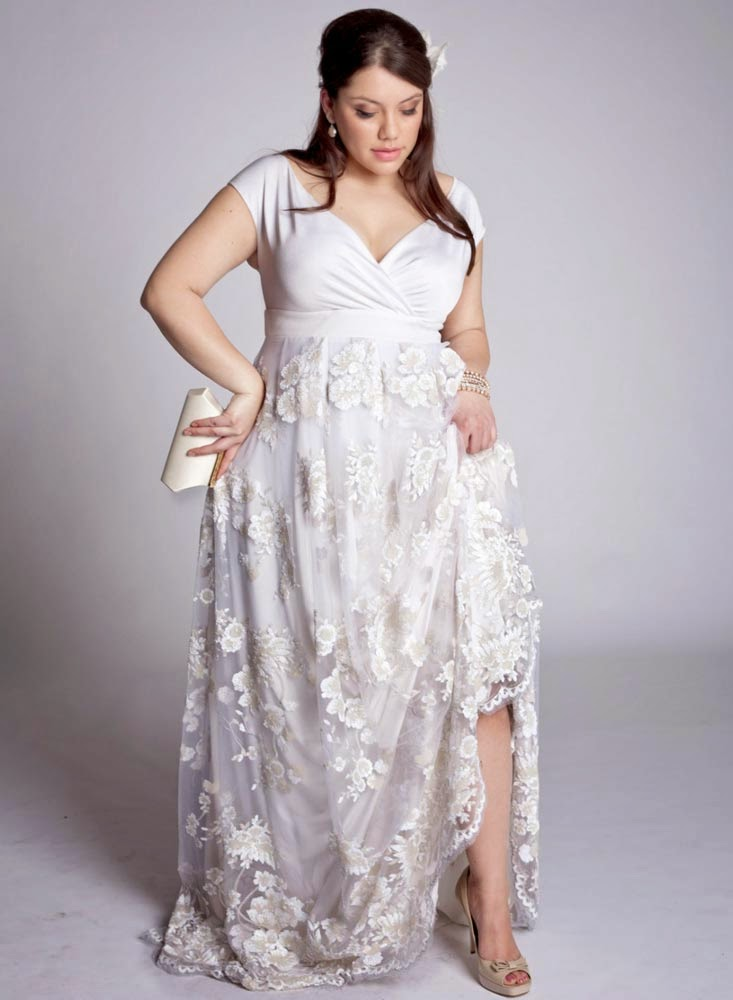 Plus Size Wedding Gowns With Short Sleeves Design pictures hd