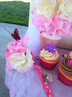 princess cupcake tiara cupcake toppers