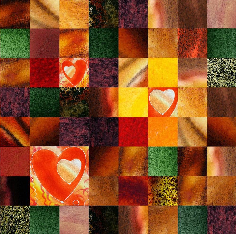 squares quilt art