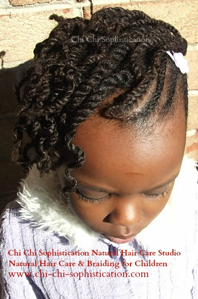 natural twists hairstyles : Natural Hair Styles for Kids: Flat Twist Up-Do! Natural Hair Style