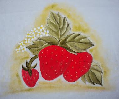 Pintura em tecidos (morangos)