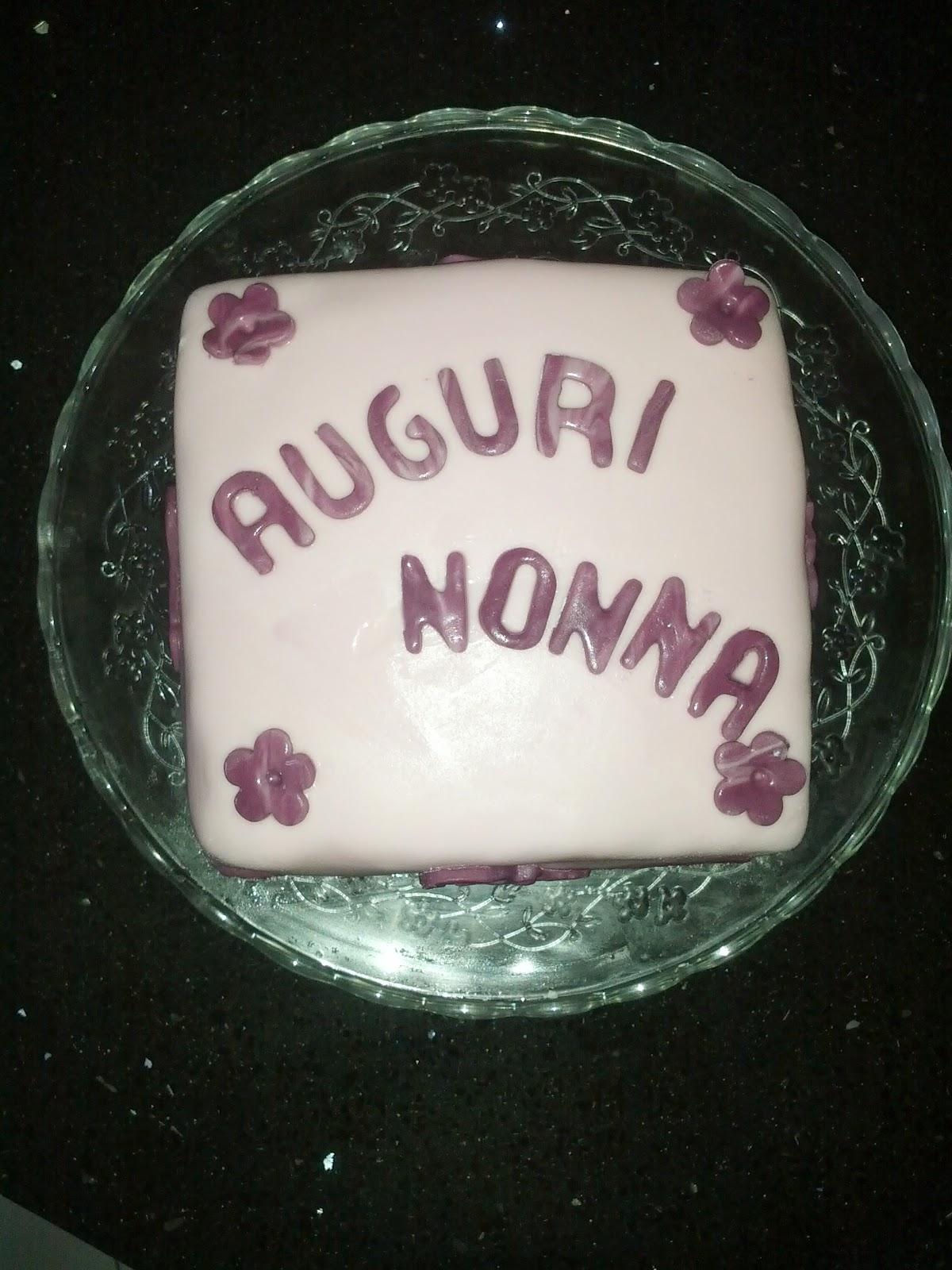 Auguri Matrimonio Nonna : Le torte di lara buon compleanno nonna giuliana