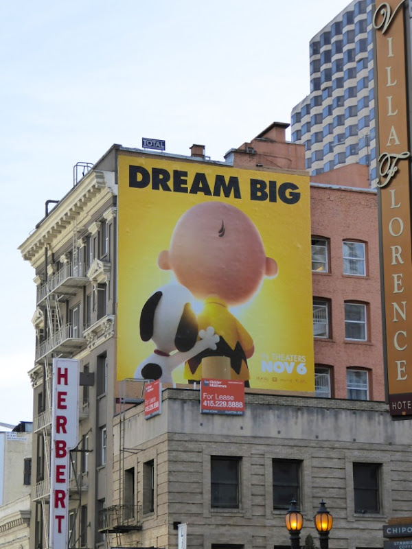 Peanuts Movie billboard SF