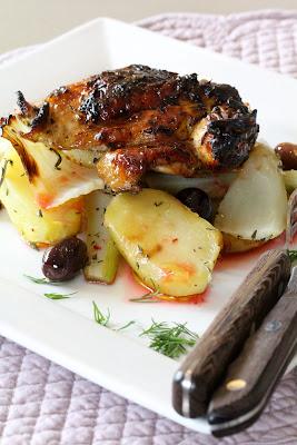 Pintade aux pommes de terre , fenouil et orange sanguine recette Jamie Oliver