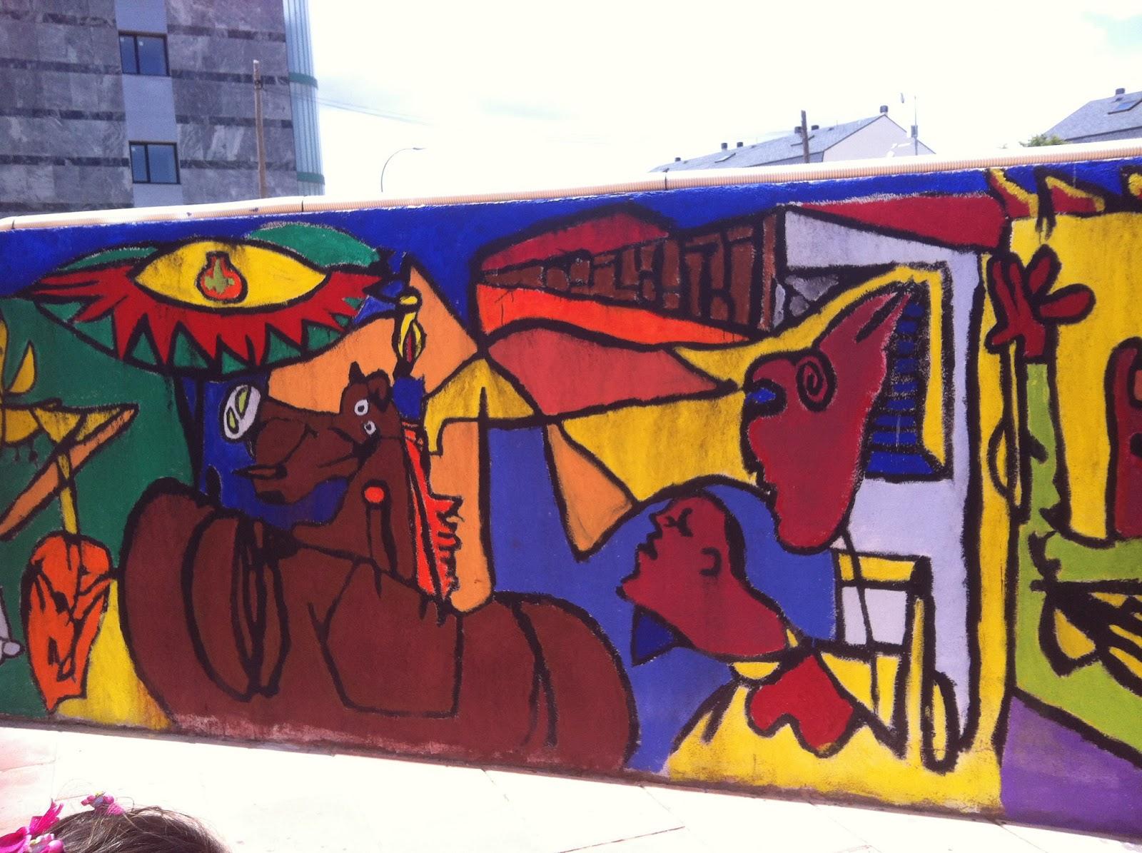 El blog de infantil del santa ana mural del guernica for Mural guernica