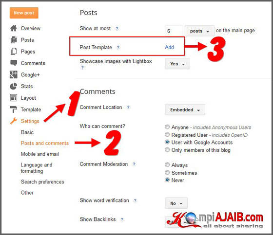Post Template Atau Templat Entri Blog