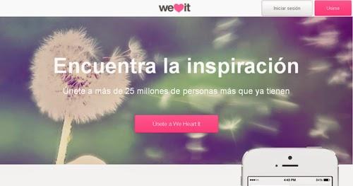 Encuentra la inspiracion en la red social WeHeartIt