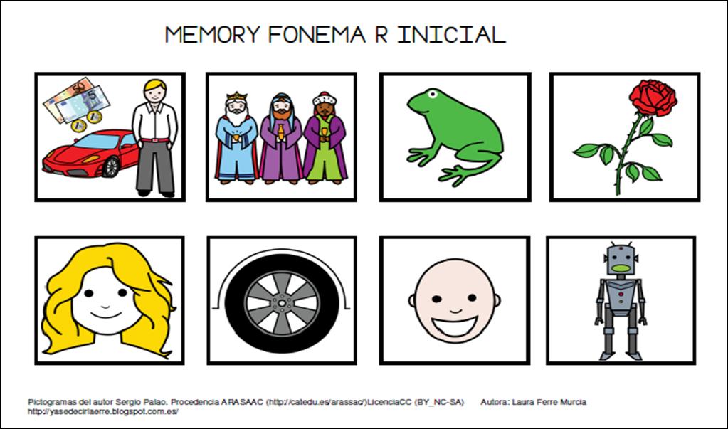 recursos de audici n y lenguaje memory fonema r