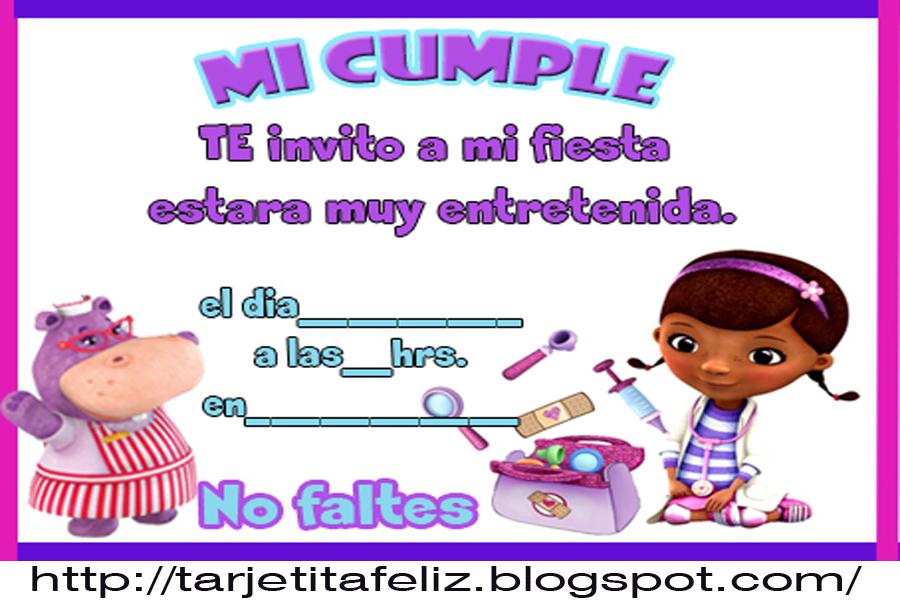 Tarjeta de cumpleaños de la doctora juguetes