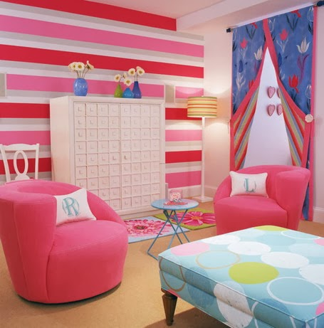 Girls Bedroom Paint Ideas Stripes decoration and ideas: ideas for decorating girls bedroom with