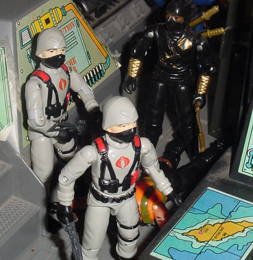 1984 Stinger Driver, Ninja Ku, Ninja Black, Argentina, Plastirama, 2004 Action Man, 1983 G.I. Joe HQ