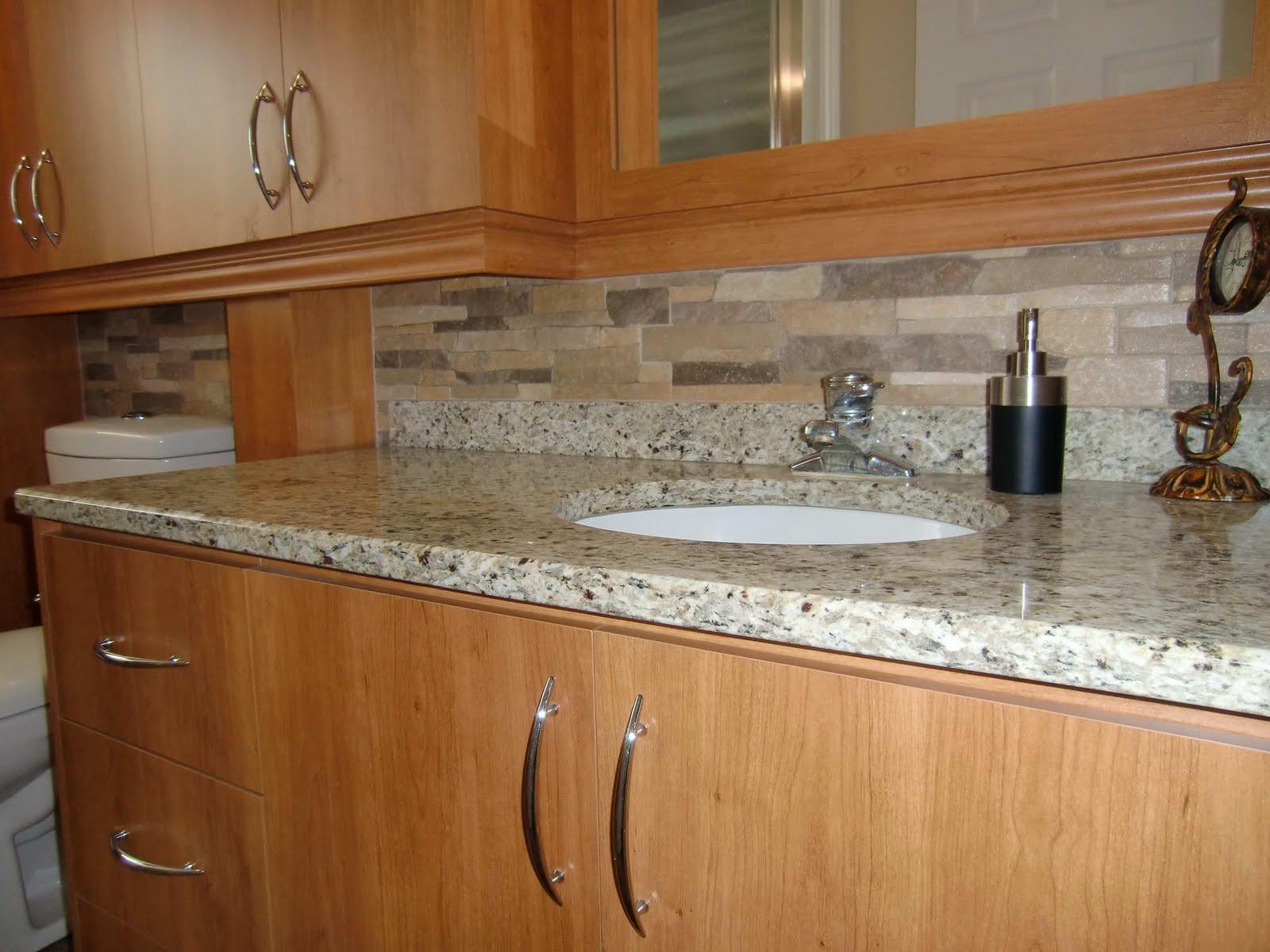Specialit smm armoire de salle de bain en m lamine for Hauteur comptoir salle de bain